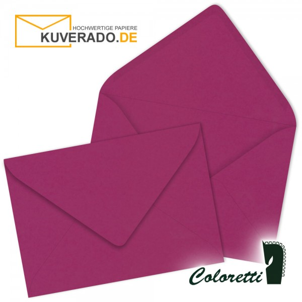 Lila DIN C6 Briefumschläge in amarena von Coloretti
