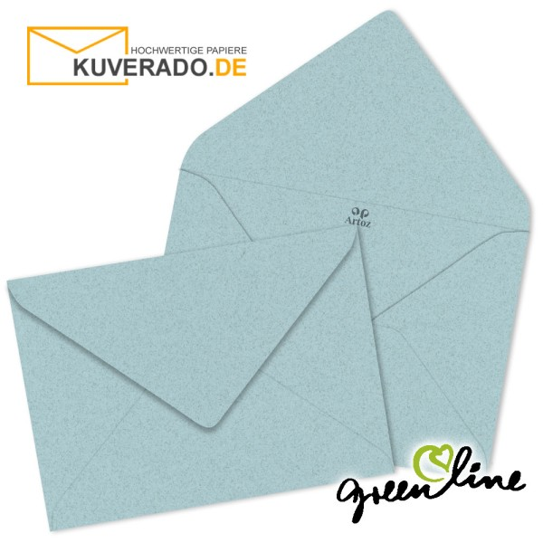 ARTOZ Greenline pastell | Recycling Briefumschläge in misty-blue DIN B6