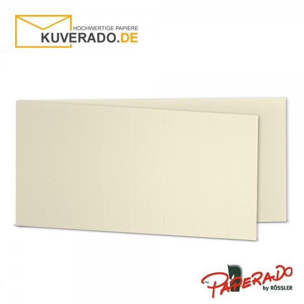 Paperado Karten in chamois beige DIN lang Querformat