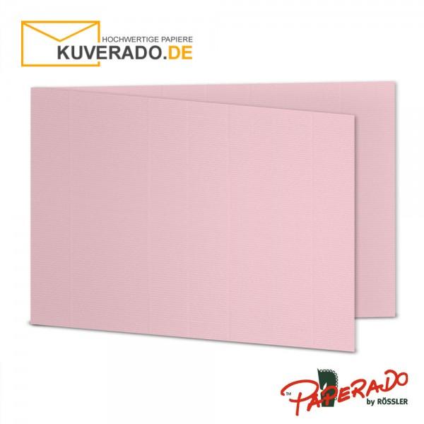 Paperado Karten in flamingo rosa DIN B6 Querformat