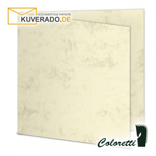 Chamois marmorierte Doppelkarten in quadratisch 220 g/qm von Coloretti