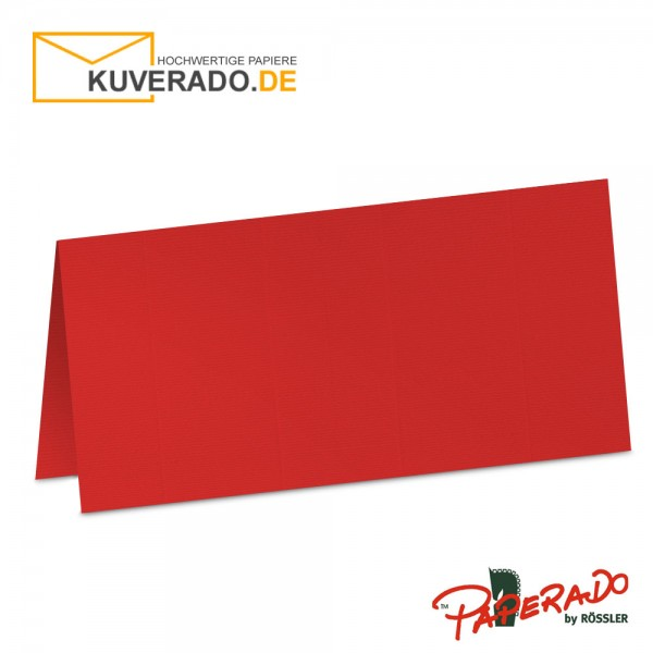Paperado Tischkarten in tomatenrot