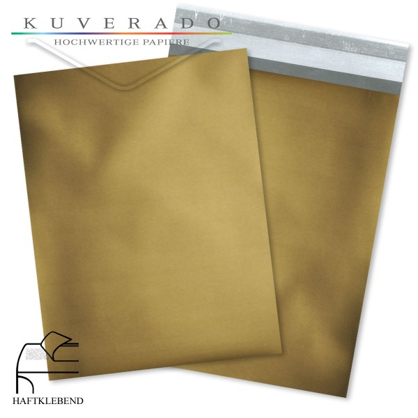 Goldene Folienumschläge metallic DIN C4