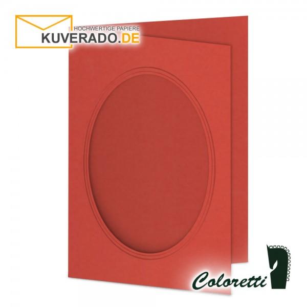 Rote Passepartoutkarten in klatschmohn 220 g/qm von Coloretti