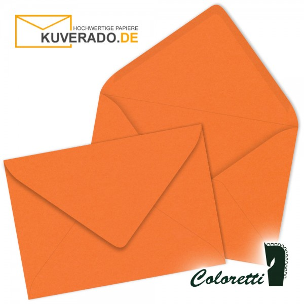 Orange DIN C6 Briefumschläge in apfelsine von Coloretti