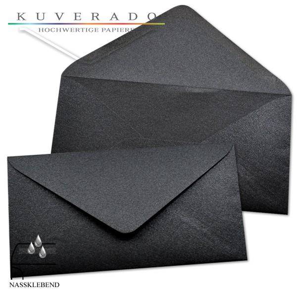 glänzende metallic Briefumschläge in schwarz im Format DIN lang
