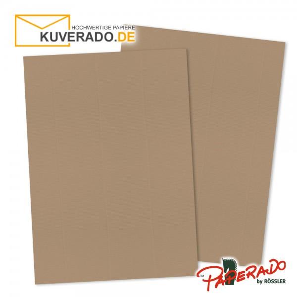 Paperado Briefpapier in haselnussbraun DIN A4 160 g/qm
