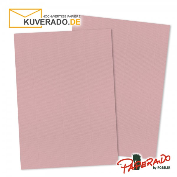 Paperado Briefpapier in rosen rosa DIN A4 160 g/qm