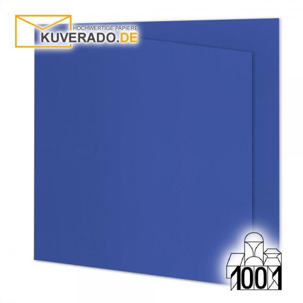 Artoz 1001 Faltkarten majestic-blue quadratisch 155x155 mm mit Wasserzeichen