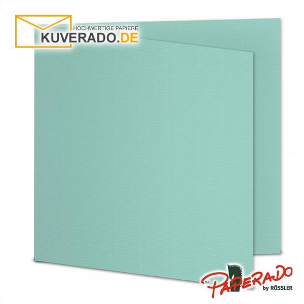 Paperado Karten in karibik blau quadratisch