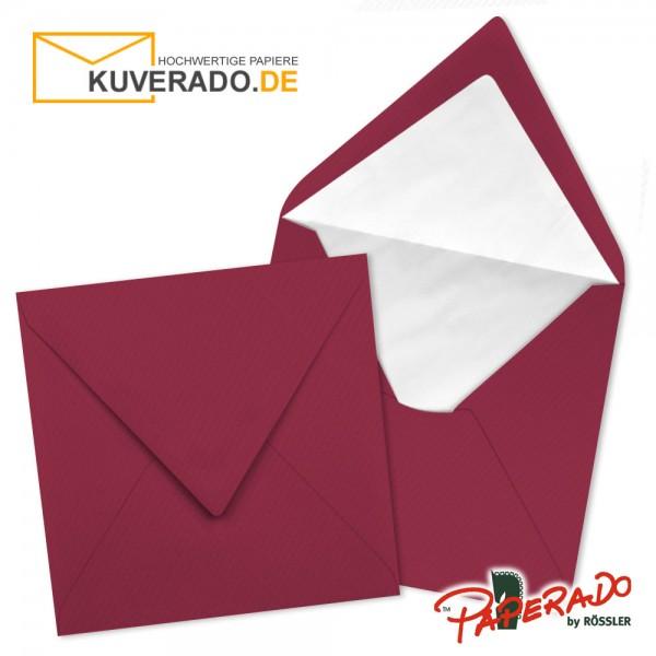 Paperado quadratische Briefumschläge in rosso rot 164x164 mm