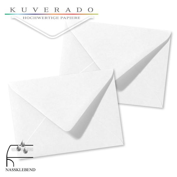 weiße Briefumschläge im Format 110 x 156 mm