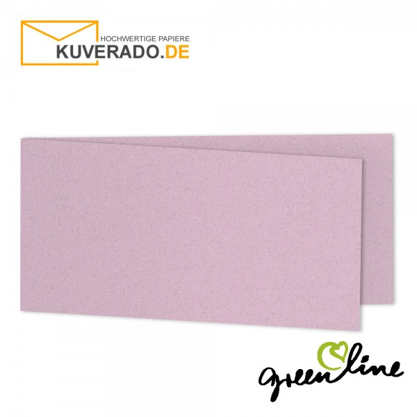 ARTOZ Greenline pastell | Recycling Faltkarten in misty-rose DIN lang
