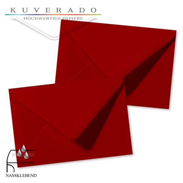 rote Briefumschläge im Format 120 x 180 mm