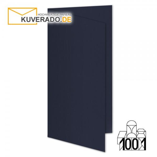 Artoz 1001 Faltkarten navy-blau DIN lang Hochformat mit Wasserzeichen