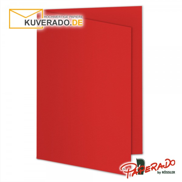 Paperado Karten in rot tomate DIN A5