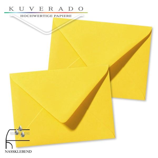 gelbe Briefumschläge im Format 130 x 180 mm