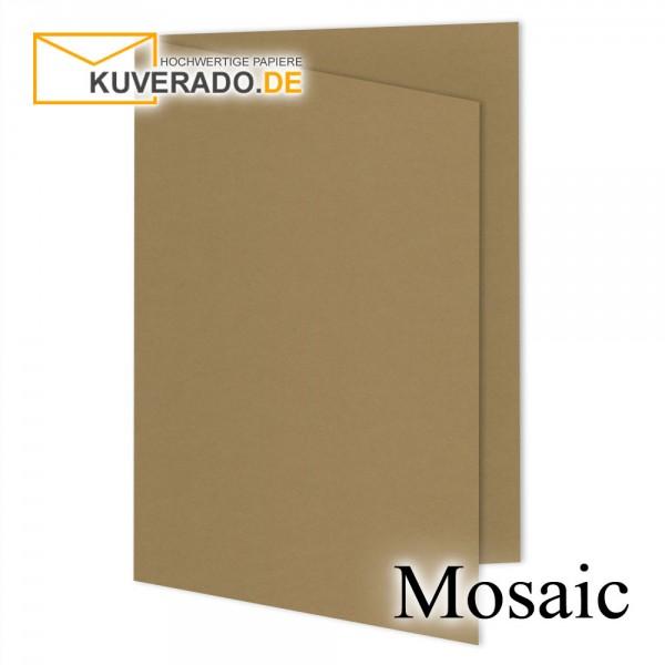 Artoz Mosaic naturbraune Doppelkarten DIN A5