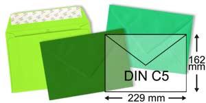 gruene Briefumschläge im Format DIN C5