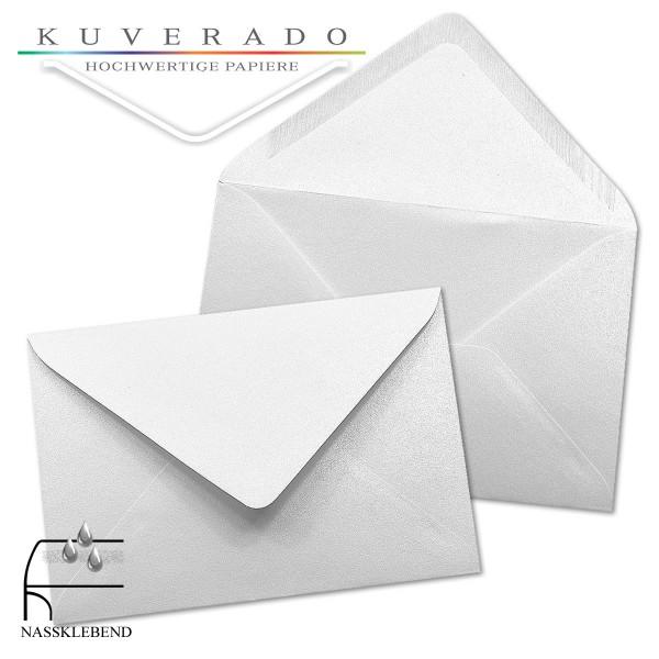 glänzende metallic Briefumschläge in extra-weiß im Format 120 x 180 mm