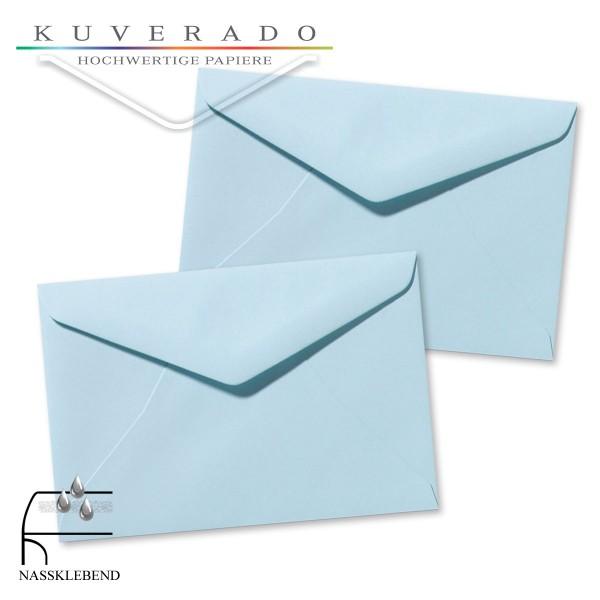 blaue Briefumschläge im Format 120 x 180 mm