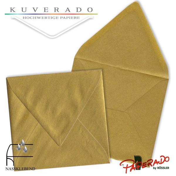 Paperado quadratische Briefumschläge in gold 164x164 mm