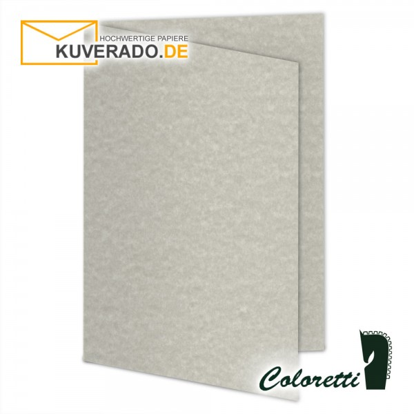 Grau marmorierte Doppelkarten in wolkengrau 220 g/qm von Coloretti
