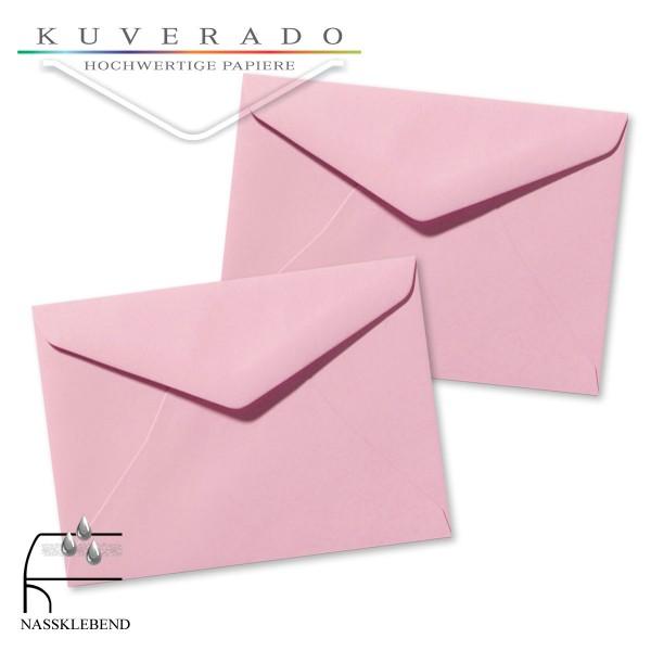 Rosa Briefumschläge (dunkelrosa) im Format 110 x 156 mm