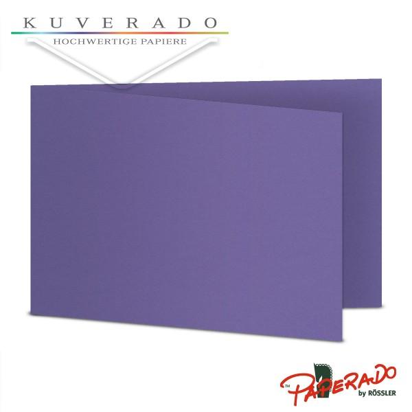 Paperado Karten in lila DIN B6 Querformat