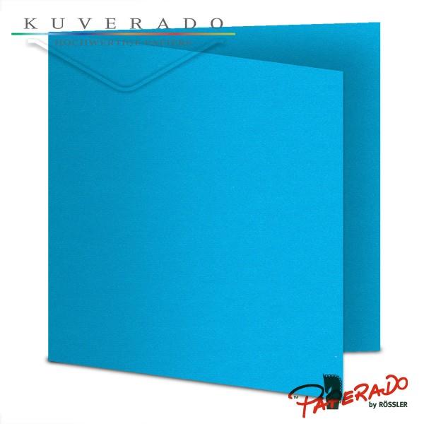 Paperado Karten in pacifik blau quadratisch