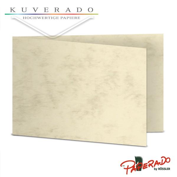 Paperado Karten in beige marmoriert DIN B6 Querformat