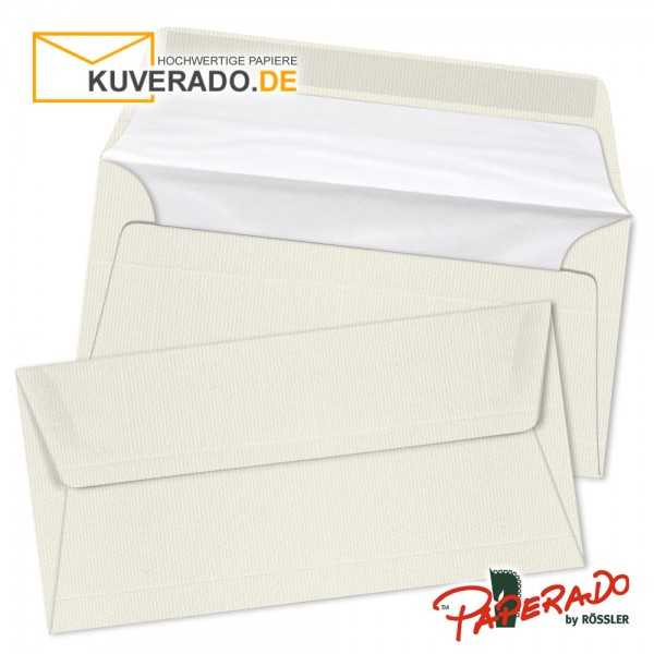Paperado Briefumschläge ivory DIN lang