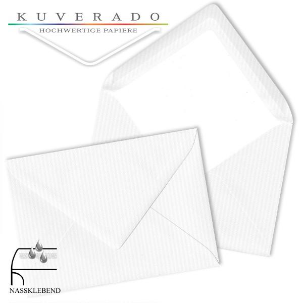 Paperado Briefumschläge in classic-rib weiß DIN B6