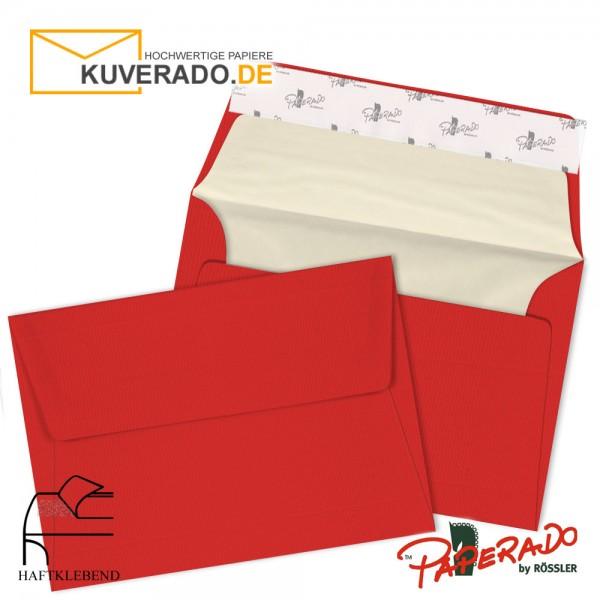 PAPERADO - Rote Briefumschläge in tomate DIN C6 haftklebend