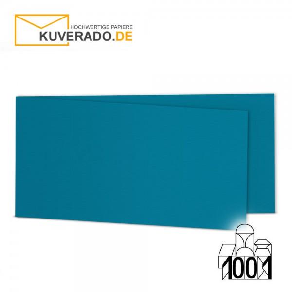 Artoz 1001 Faltkarten petrol-blau DIN lang Querformat mit Wasserzeichen