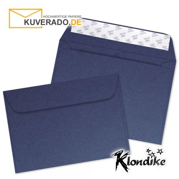 Artoz Klondike Briefumschlag in saphir-blau-metallic DIN C6