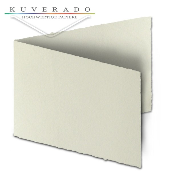 Büttenpapier Doppelkarten DIN A5