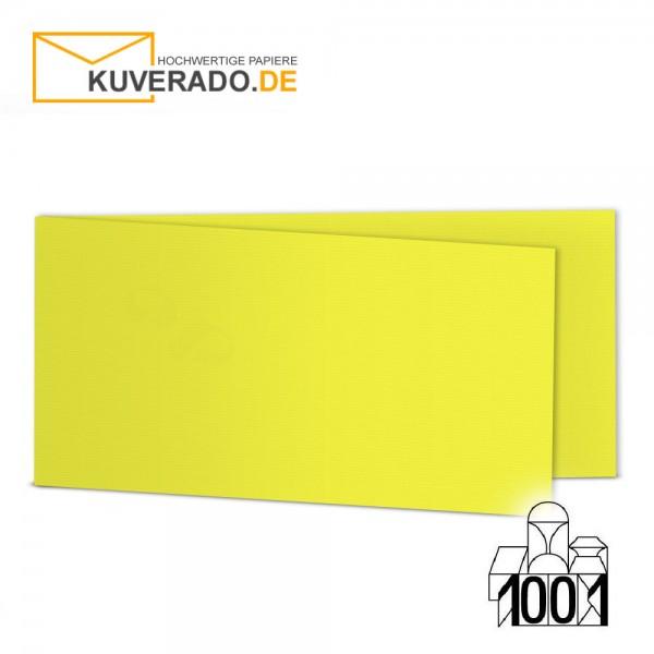 Artoz 1001 Faltkarten maisgelb DIN lang Querformat mit Wasserzeichen