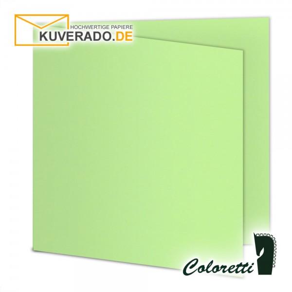 Grüne Doppelkarten in peppermint quadratisch 220 g/qm von Coloretti