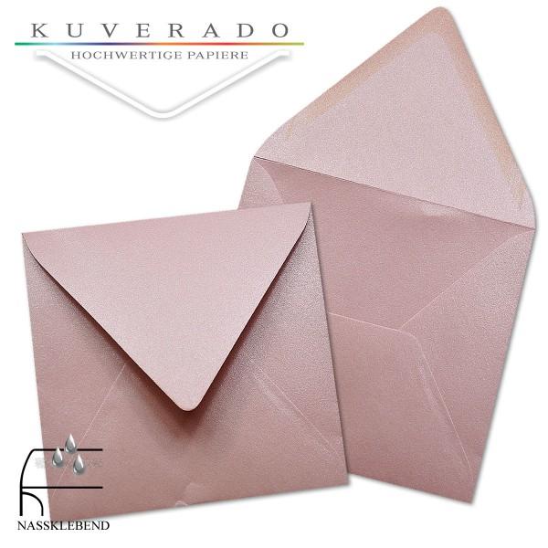glänzende metallic Briefumschläge in rosa im quadratischen Format 160 x 160 mm