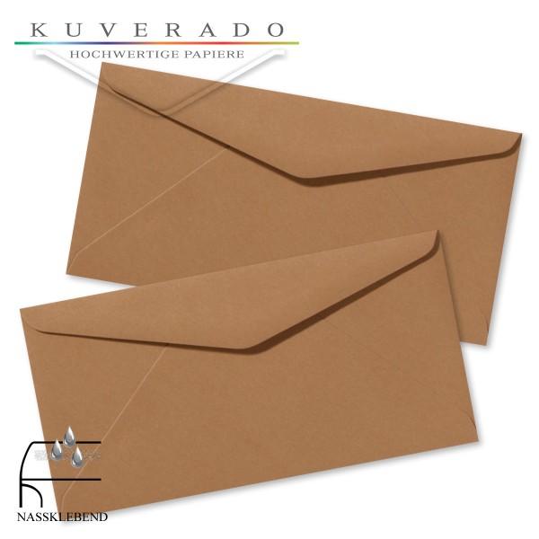 braune Briefumschläge im Format DIN lang