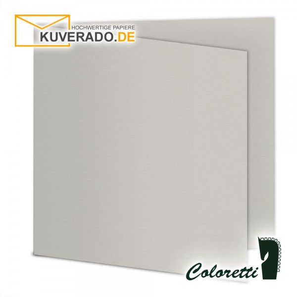 Graue Doppelkarten in quadratisch 220 g/qm von Coloretti