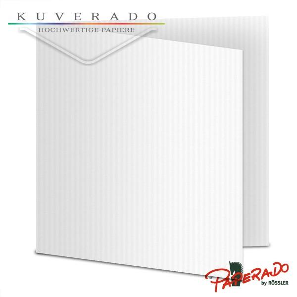 Paperado Karten in classic-rib weiß quadratisch
