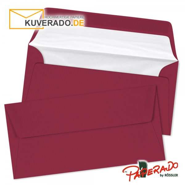 Paperado Briefumschläge in rosso rot DIN lang