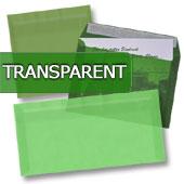 transparente Briefumschläge in grün