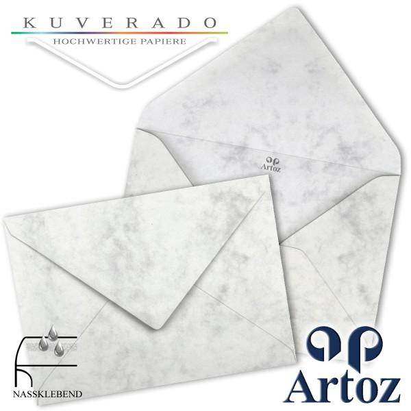 Artoz Antiqua marmorierte Briefumschläge grau DIN E6