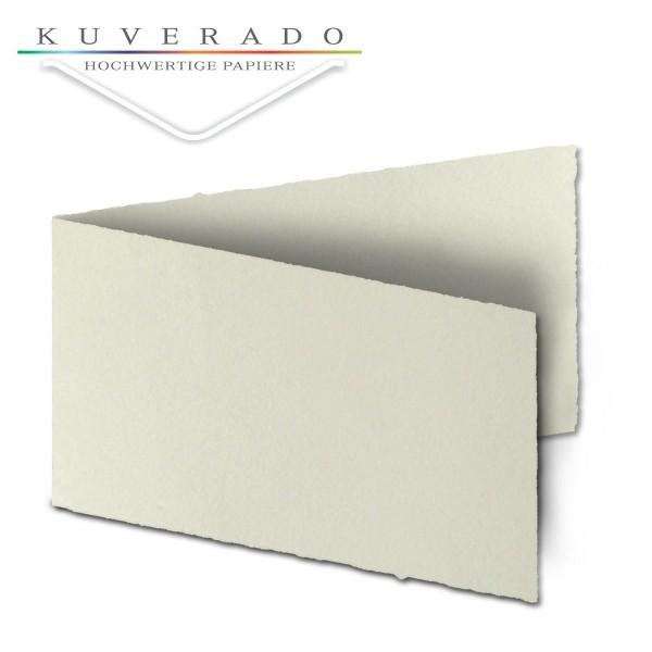 Büttenpapier Doppelkarten DIN lang