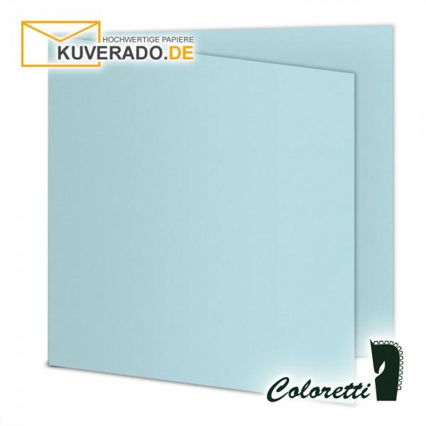 Himmelblaue Doppelkarten in quadratisch 220 g/qm von Coloretti