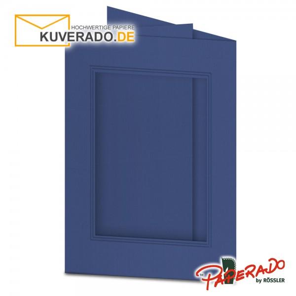 Paperado Passepartoutkarten mit eckigem Ausschnitt in jeansblau DIN B6