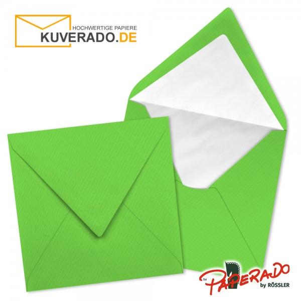 Paperado quadratische Briefumschläge in apfelgrün 164x164 mm